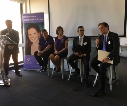 Anton (Hall and Wilcox) and John (QBE) lending their expertise to a Q & A Panel.